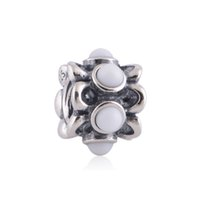 plastic charms - 925 Sterling Silver Charms Screw Thread Crimp End LW280 craft Plastic Pearl Setting Bead Charms Compatible With European Diy Charm Bracelets
