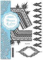 Wholesale Newest henna gold tattoo sticker white henna tattoo black lace tattoo