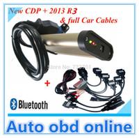 Wholesale Bluetooth R3 cd for autocom cdp pro plus auto diagnostic tools full set tcs cdp car cables dhl ems