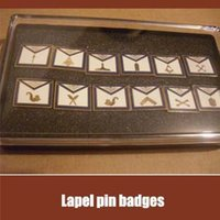 apron gift set - 1 Set of pieces differnt pins per pack quot Brass gold plated set of masonic apron lapel badge