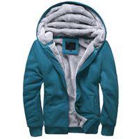Wholesale Men s Clothing Hoodies New Fashion Autumn Winter Men s Long Sleeve Hoodies Thick Warm Casual Man Zipper Sweatshirts Coats