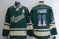 Wholesale Top quality Minnesota Wild Ice Hockey Jersey Suter Parise Niederreiter green Jerseys Embroidery logos Cheaper Jersey size
