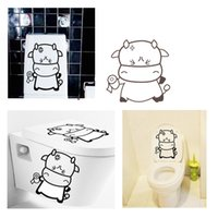 Cheap Removable Wall Decals Smiling Face Cup Stickers DIY Cartoon Funny Toilet Decorating Home Decor Decoration Paper 45 * 60cm