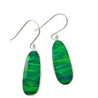Wholesale Brand new Women s opal earrings white handmade Solitaire earrings silver jewellery colors silver earrings E235