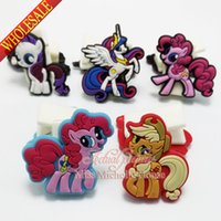Wholesale My Little Pony paper clip horse binder clip plastic clip Paper Clips bookmarks cartoon bookmarks soft rubber PVC bookmarks for stationery
