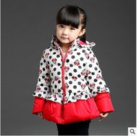 Wholesale 2016 Winter Girls Clothes Cute Cartoon Minnie Children Snowsuit Long Sleeve Jackets Hooded Down Coat Baby Outerwear for Y Kids Clothing