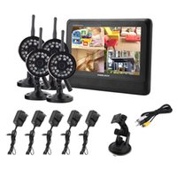 Wholesale Wireless CH Quad DVR4 Cameras with TFT LCD Monitor Home Security System wireless digital baby monitor