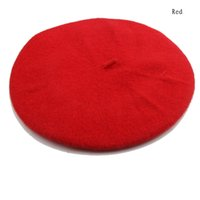 Wholesale New Design Fashion New Lady Womens Wool Blend Beret Beanie Winter Hat Ski Cap Gifts HT