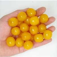 Wholesale 50Pcs Natural Baltic Amber Loose Polished Round Ball Butterscotch Color Beads size12mm
