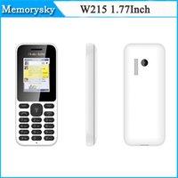 No Smartphone <128MB 32MB 2015 Cheap Mobile Phone W215 Elder People Dual SIM Whatsap Facebook Big Keyboard Loud Speaker 1.77Inch Color Screen Bluetooth Phone 002786