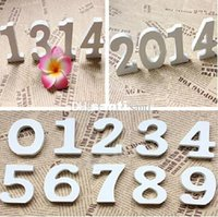 Wholesale New Arrive White Wood Wooden Numbers Alphabet For Wedding Birthday Home Decor decoration