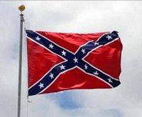 Wholesale New Confederate Rebel Civil War Flag Confederate Flag Confederate Battle Flags Two Sides Printed Flag National Polyester Flags DDA3004