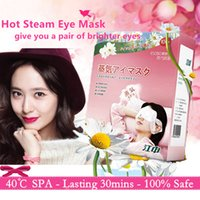 Wholesale Relieve Black Circle Steam Eye Mask Automatic Natural Heat Goggles Eye SPA Sleep Mask