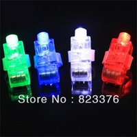 Wholesale Freeshipping packs Colorful Laser Finger Lamp Led Finger Lights OPP bag