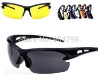 Wholesale 1pcs PC Material Explosion proof UV Sunglasses Security Sport Cycling Glasses Goggles YKS