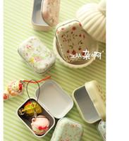 food storage tins - Free hipping New vintage small flowers series quality iron case storage case tin box
