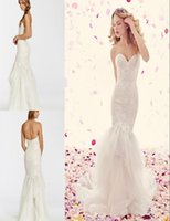 alvina valenta - 2016 Sexy Lace Wedding Dresses Mermaid Sweetheart Backless Cheap Court Train Tulle Applique Vintage Alvina Valenta Plus Size Bridal Gown