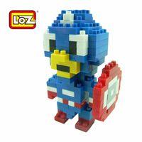 american plastic bricks - LOZ small box American captain LOZ diamond Mini Blocks Minifigures Nanoblock Action Figures Plastic Bricks Miniature Anime Blocks