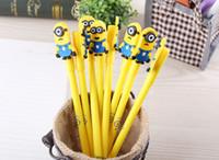 Wholesale Korea creative stationery cute little Minions Ballpoint Pens cartoon Despiable Me pens man styling gel pen student office prize