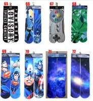 tiger print - 2015 new color d superman socks women men hip hop cotton skateboard printed tiger odd sox socks Unisex stocking hosiery BBB2720 pair