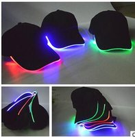 baseball articles - LED fiber optic hat Article highlight color lamp baseball cap Night outdoors light hat concert cheer props fishing lighting at night