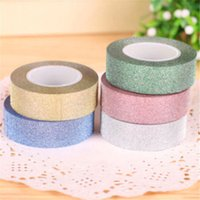 Wholesale 2016 X m Craft Glitter Washi Tape Scrapbooking Decoration DIY Adhesive Paper Sticker Colors