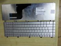 Wholesale Original new keyboard for ASUS N55 N57 N55S N75 SILVER US layout