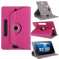 amazon kindle fire case pink - Universal Tablet PC Cases Degree Rotating Case PU Leather Stand Cover inch Fold Flip Covers with Card Buckle for Mini iPad