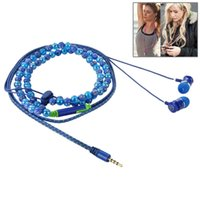 bass beads - Fashionable Beads Style mm Earphone Headphones For IPhone S Samsung Xiaomi MP3 MP4 High quality Best Bass