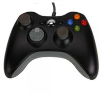 usb game controller - Free DHL Game Controller Xbox Gamepad Black USB Wire PC XBOX360 Joypad Joystick XBOX360 Accessory For Laptop Computer PC