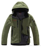 Wholesale sportwear outdoor camping hiking hunting biking men jacket spring autumn fleece hoody jacket polartec outerwear coats S XXL