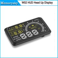 Wholesale Car HUD Projector Head Up Display OBD II HUD Car W02 Inch Comprehensive Display car alarm system car detector OBD hot sale