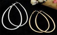 Wholesale Fashion jewelry Earrings simple big drop earrings gold silver color hoop Earrings for women earings