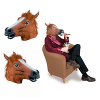 Wholesale Novelty Creepy Horse Halloween Head latex Rubber Costume Theater Prop Party Mask silicone mask IHLMG