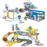 Wholesale 1 Parking Track Robocar Poly Transformation Robot car Poly Theme Parking Action Figure Thomas Classic Toys Kids Gifts