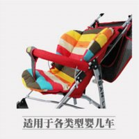 Wholesale Christmas hot waterproof baby Stroller Cushion Stroller Pad Pram Padding Liner Car Seat Pad Rainbow general cotton thick mat