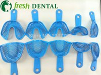 Wholesale Dental One Set Dental Trays for impressions Impression tray Blue Dental Plastic Steel Impression Trays autoclavable
