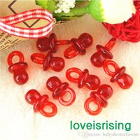baby pacifier favors - pack mm mm Clear Red Mini Acrylic Baby Pacifier Baby Shower Favors Cute Charms Party Decorations