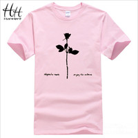 album cover sleeves - HanHent Depeche Mode Violator Album Cover Music T shirts Men Short Sleeve Cotton T Shirts Customized Summer Tshirts Tops Tees