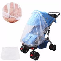 Wholesale New Arrival Baby Pram Pushchair Mosquito Net Fly Midge Insect Bug Cover Stroller Protector cmX90cm White