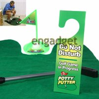 Wholesale Funny Toilet Bathroom Mini Golf Mat balls Set Potty Putter Putting Game Novelty
