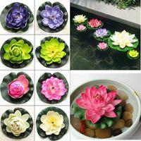 Wholesale Buy5 Get1 free Artificial Lotus Water Lily Bud Aquarium Fish Tank Floating Decor