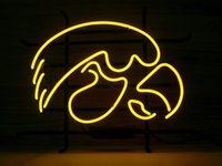 beer tubes - New IOWA HAWKEYES NEON SIGN REAL GLASS TUBE BEER BAR PUB Neon Light Sign store display