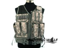 airsoft holster vest - Colors Molle Combat Airsoft Tactical CS Marine Land Protective Vest with Holster Durable Comfortable Quality Paintball Vest