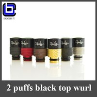 Wholesale Newest puffs drip tip wide bore metal stainless copper gold black top wurl line hybrid drip tips for aspire nautilus atomizer