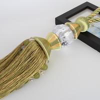 ball curtain rod - Classical upscale Korean curtain hanging ball curtain tie ball straps tying decorative rod Rome lob crystal beads ear