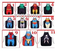 Wholesale 2015 The new hot Novelty Funny Superhero Series Superman Spider man Batman Aprons Size cm cm