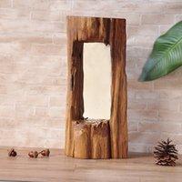 bathroom mirror trim - Southeast Asia wood trim siding creative make up mirror bathroom ornament retro wood ornaments shaped craft