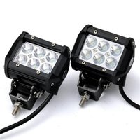 Wholesale New Arrival W CREE LED SUV Off Road Boat Headlight Spot Driving Fog Light Waterproof Black SUV Off Road Headlight