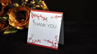 Wholesale Plum Blossom Folded Free Customized Printing Thank You Cards RSVP Cards Weding invitation